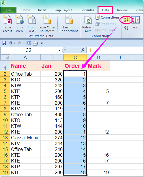 restore a document in excel