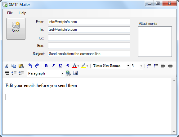 the batch document should be sent as an email attachment
