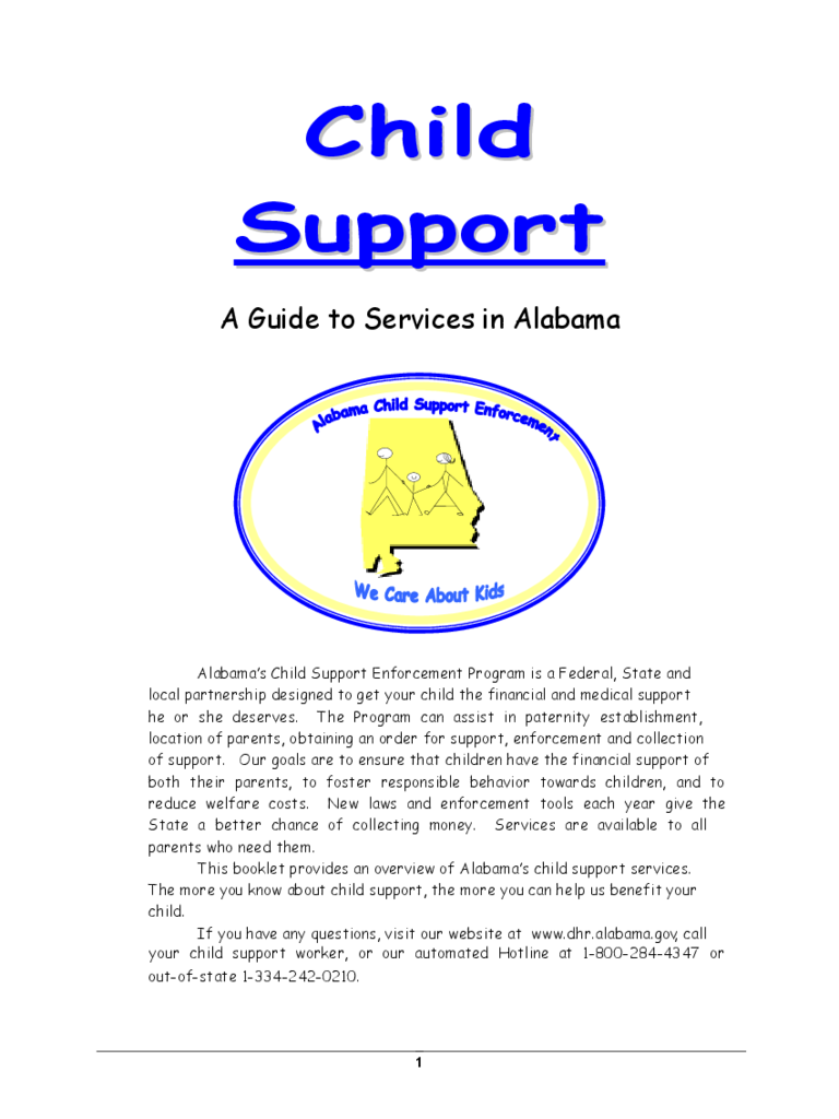 how to word child support payment document