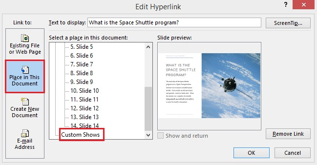 add hyper links to a document