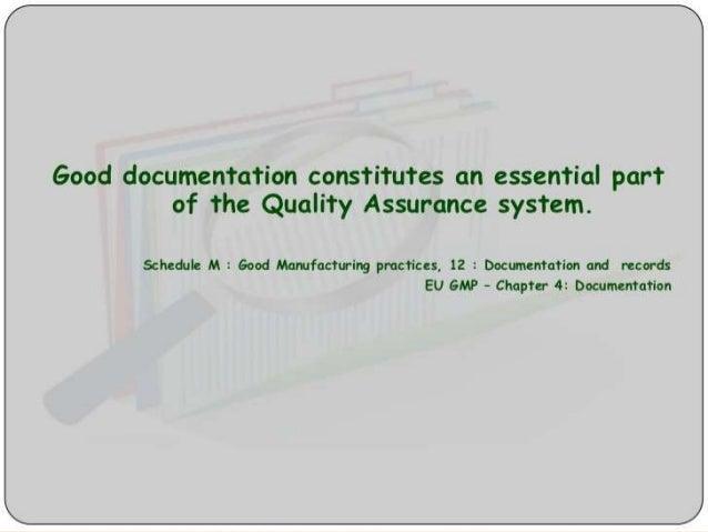 purpose of good documentation practices