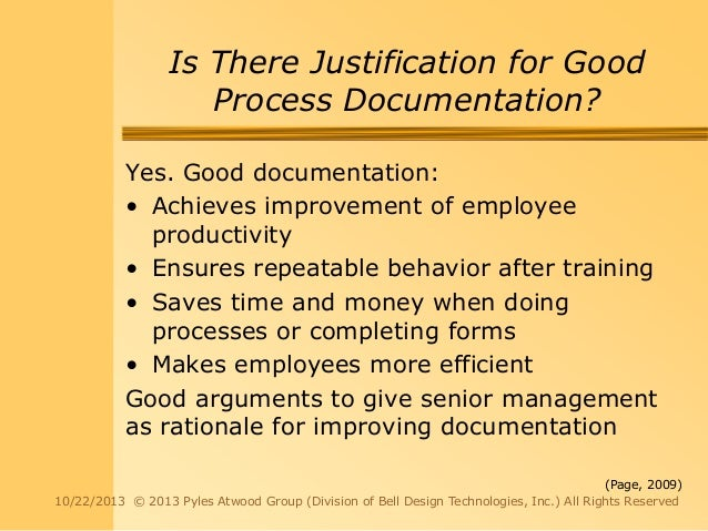 importance of process documentation