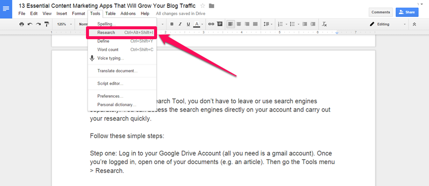 ms word external hyperlink within document