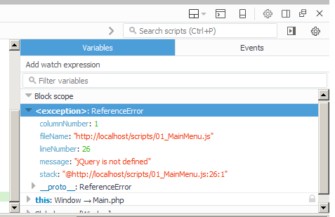 jquery document ready function not working in firefox