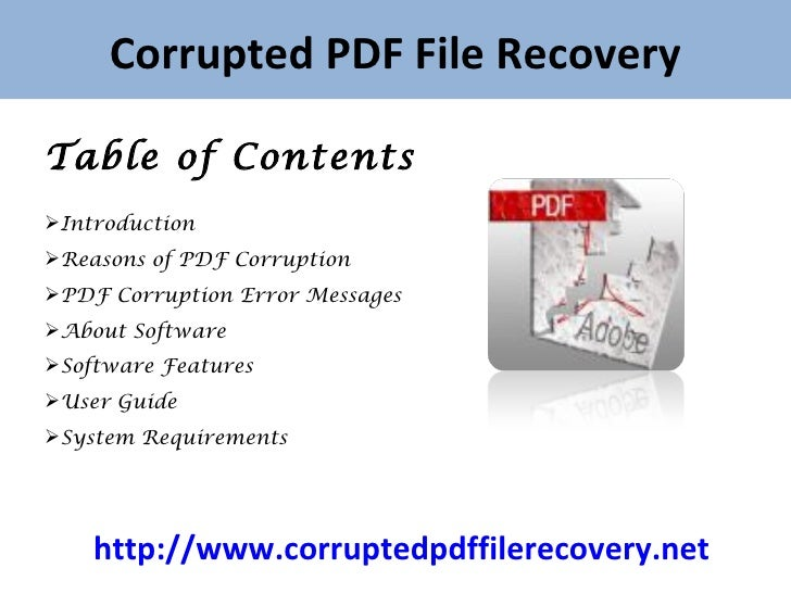 error while parsing the pdf document