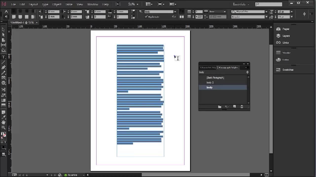 indesign create document import multiple files