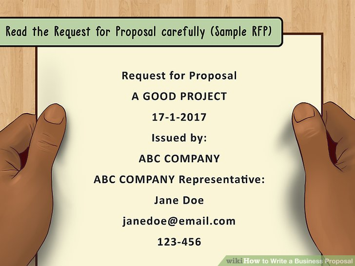 request for proposal is it planning document