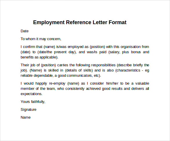 is a job reference a legal document