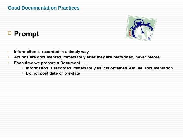 what is proper documentation