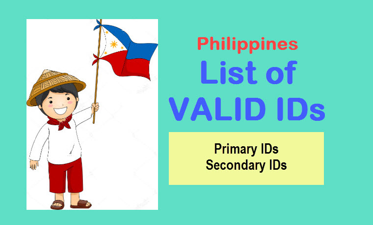 government issued identification document example in philippines