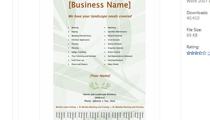 word document tear off tabs templates