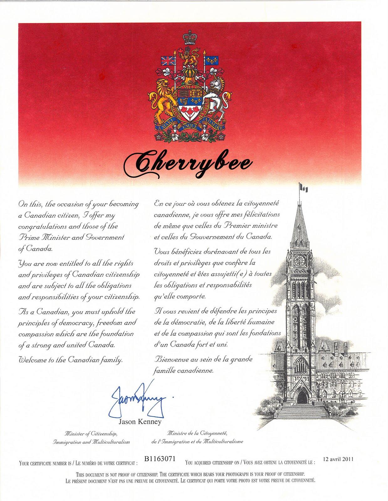 document fournir pour citoyennete canadienne