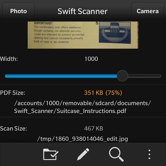 can i scan a document into a pdf file