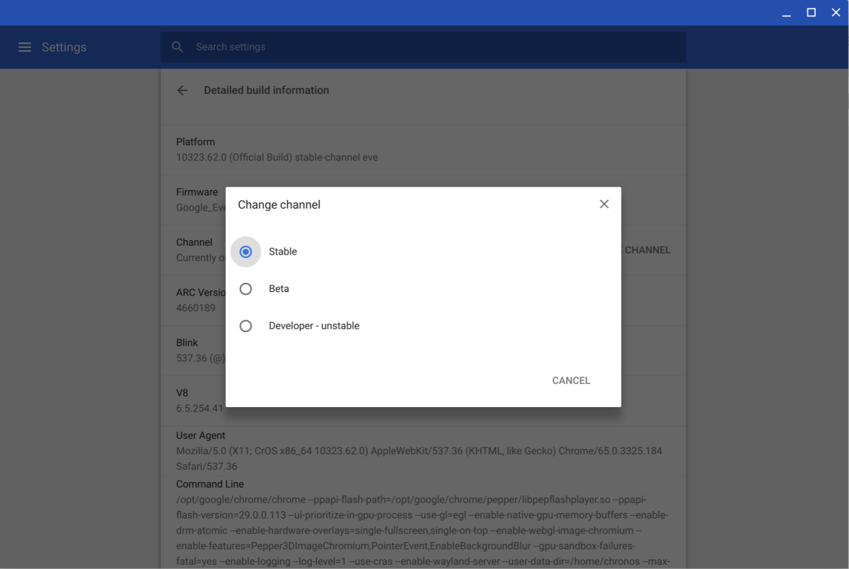 change document mode in chrome