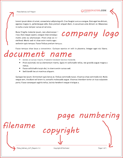 company logo on word document