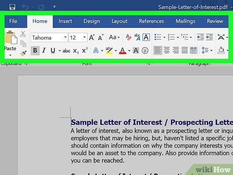 convertir un document word en pdf