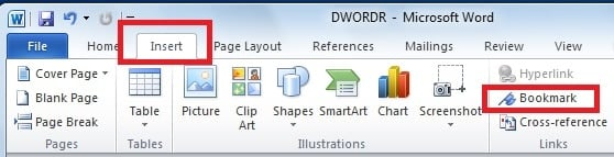 creating hyperlinks within a word document