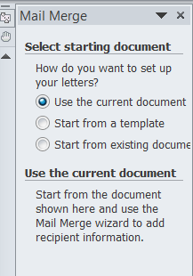 in a mail merge what is the main document
