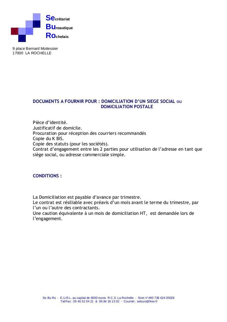 document a fournir pour csq