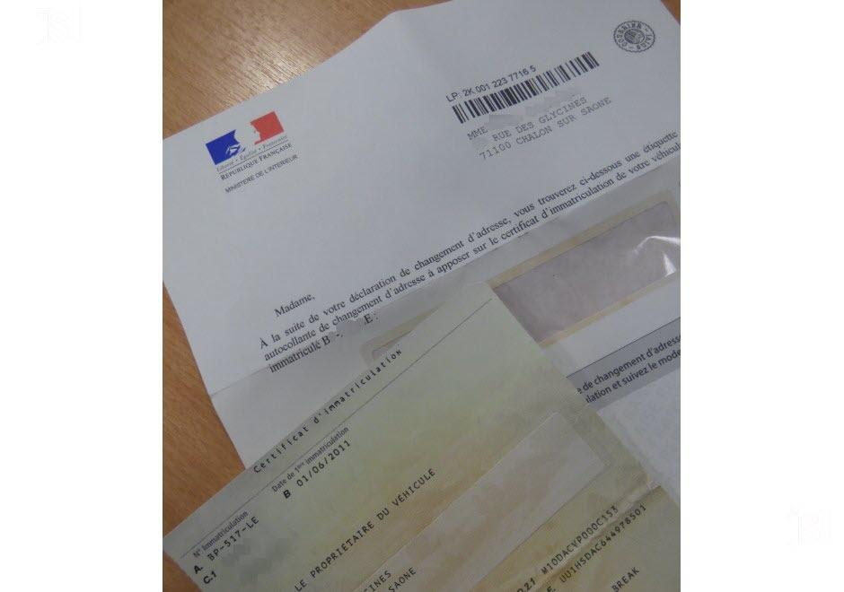 document pour changement d adresse carte grise