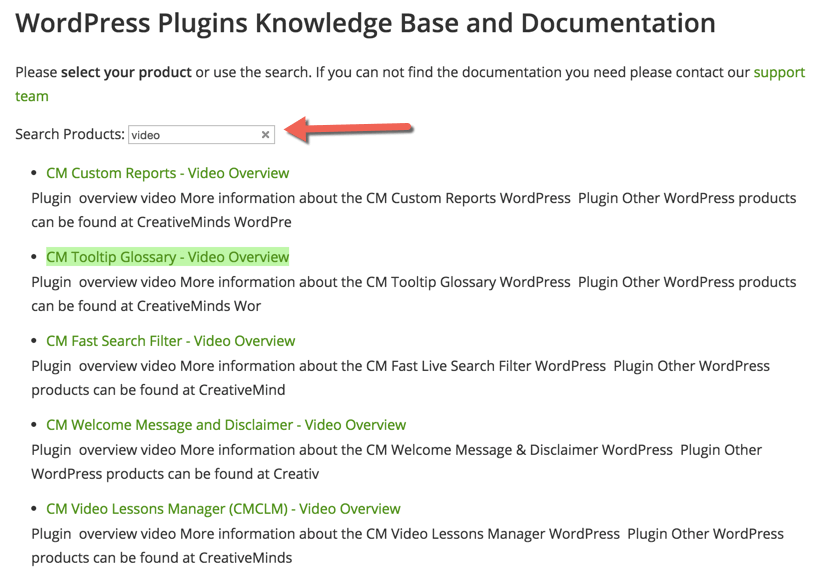 wordpress plugin for document guide