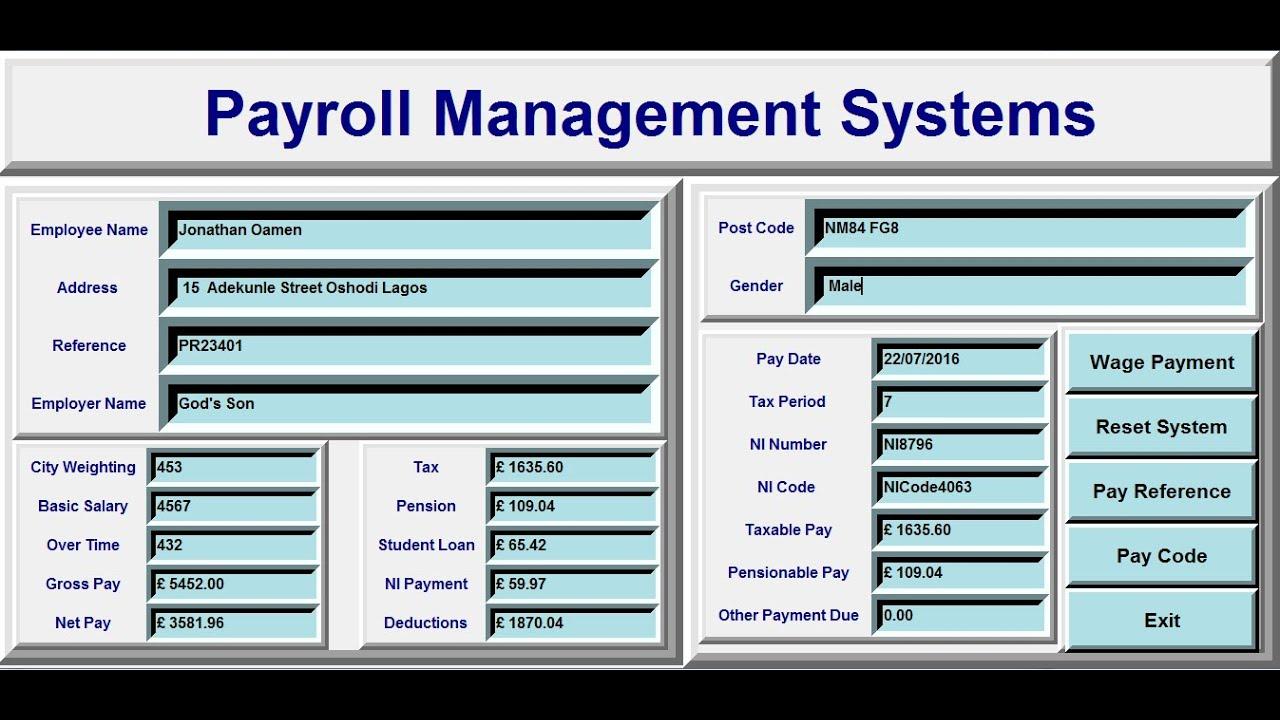 employee payroll management system documentation