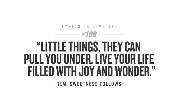 r.e.m document the one i love lyric