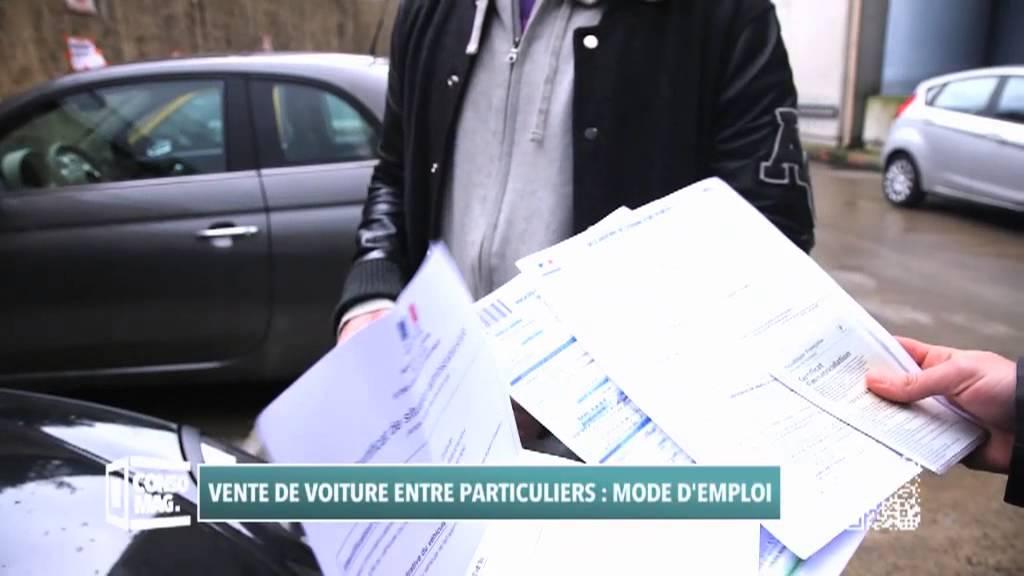 document pour vente de voiture entre particulier