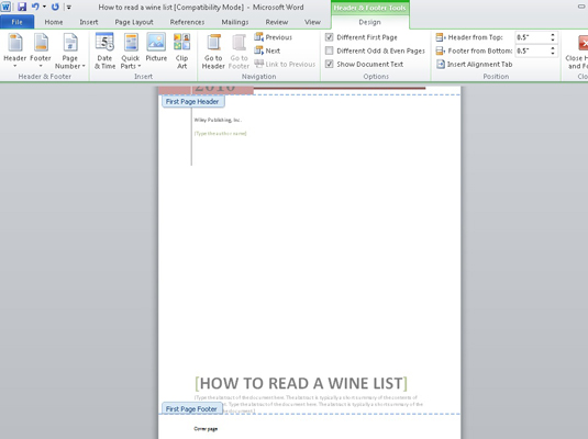 go to end of document word 2010 vba