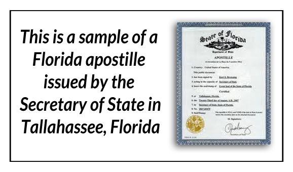how to get a document apostille in florida
