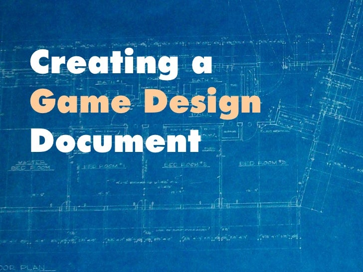 how to make a video game design document
