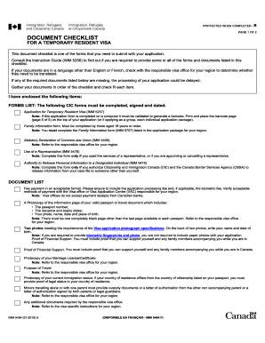imm 5484 e document checklist
