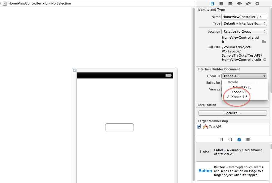ios xcode open document type