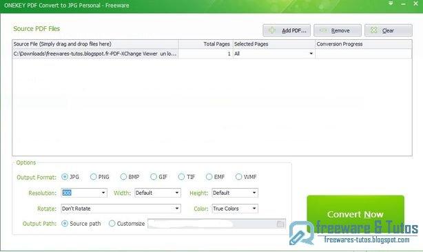 logiciel gratuit pour convertir un document pdf en jpeg