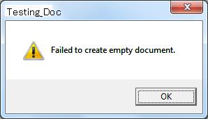 malco failed to creat empty document