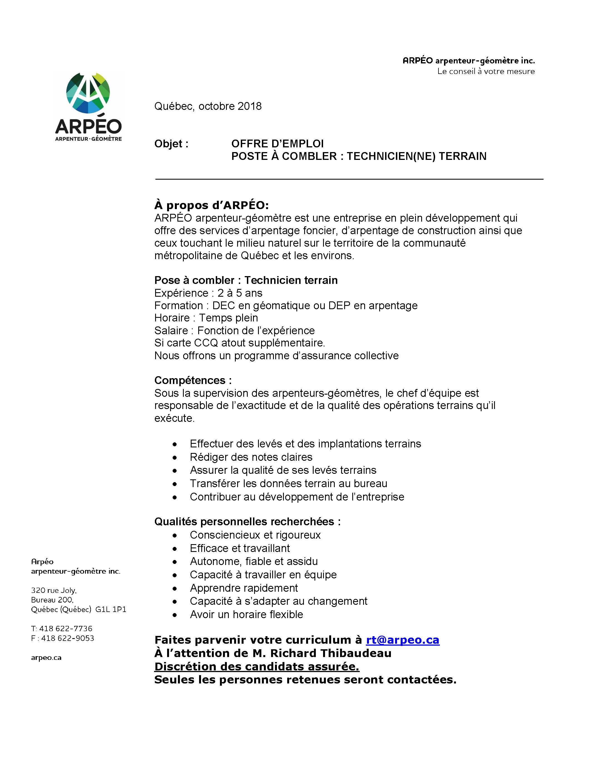 technicien documentation offre emploi