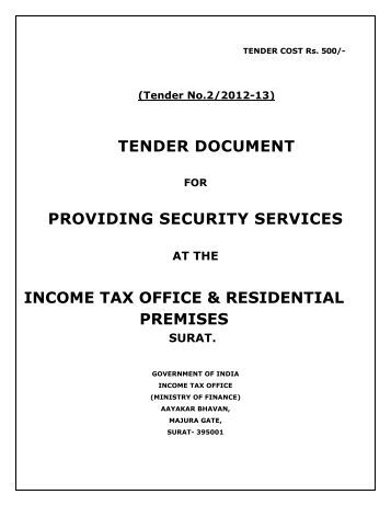 tender document for provision of security services