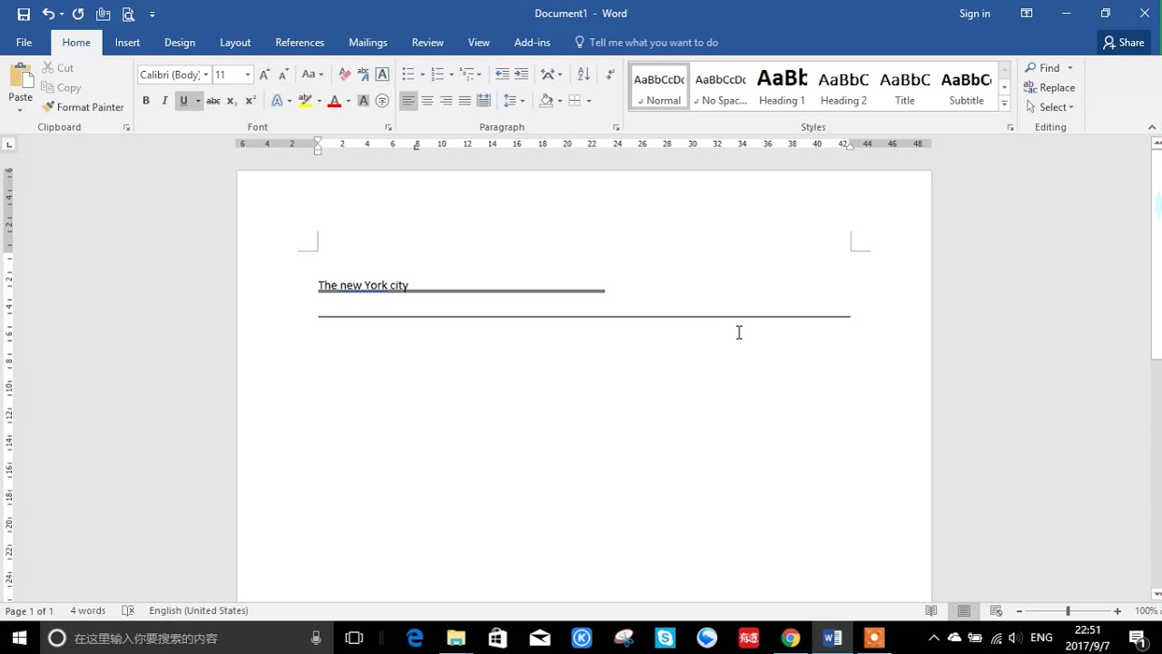 word document how to delete line